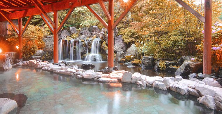 那須高原随一の広さを誇る大型露天風呂