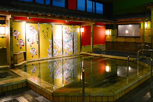 福岡県博多の森 湯処 月の湯 桧風呂