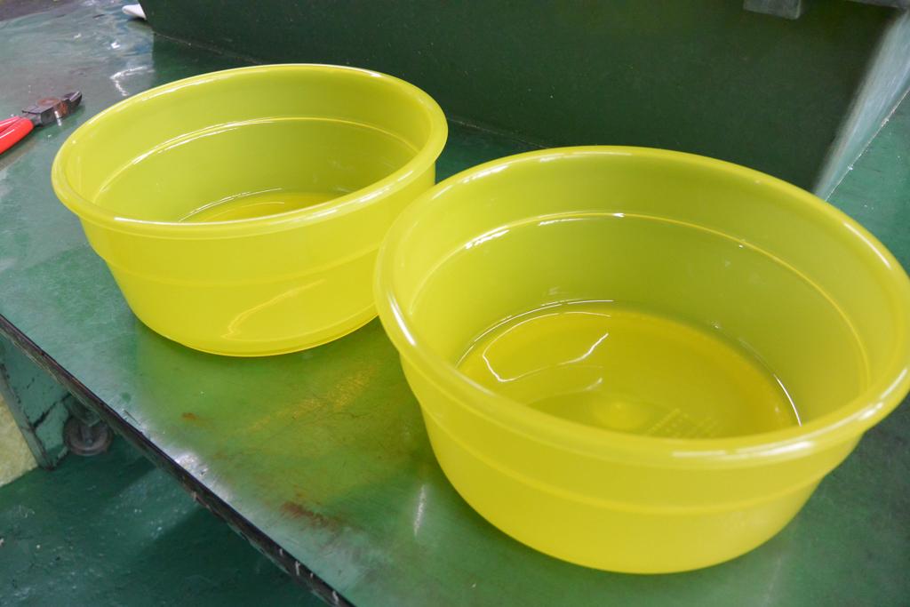 印刷前のケロリン桶