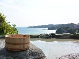 下田大和館の名物 山頂露天風呂『雲母』
