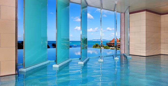 リゾートホテル ルネッサンスホテルオキナワ内にある温泉施設、山田温泉