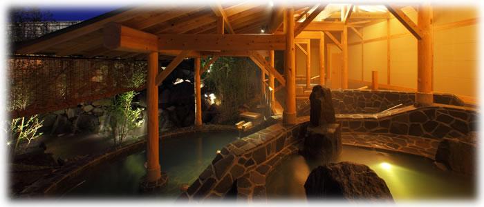 飯坂ホテル聚楽に併設された温泉施設 花ももの湯