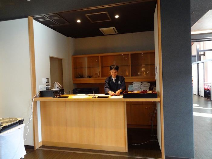 The Ryokan Tokyo YUGAWARA front desk
