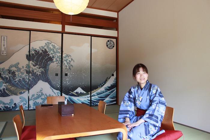 The Ryokan Tokyo YUGAWARA Yukata Blue