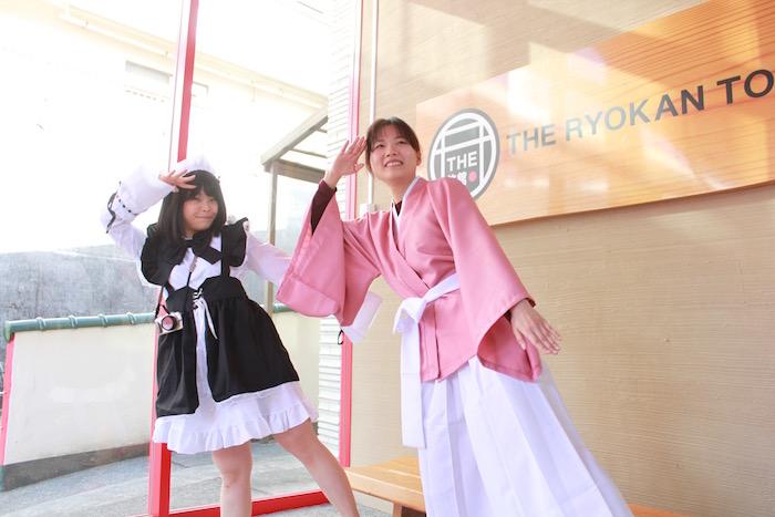 The Ryokan Tokyo YUGAWARAでのコスプレ