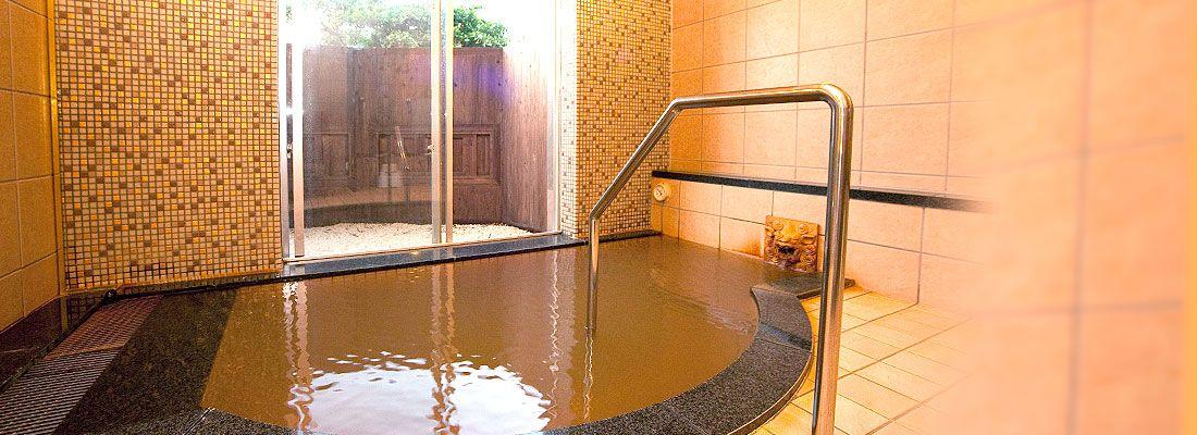ユインチホテル南城内にある温泉施設「猿人の湯」個室付き貸切風呂
