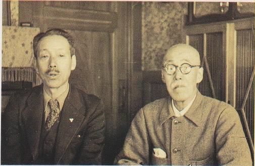佐藤隆房と高村光太郎 写真
