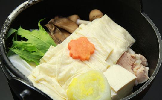 湯の澤鉱泉 料理 ゆば