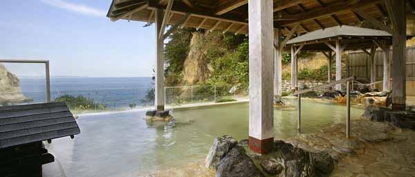 茨城 五浦観光ホテル 露天風呂の写真