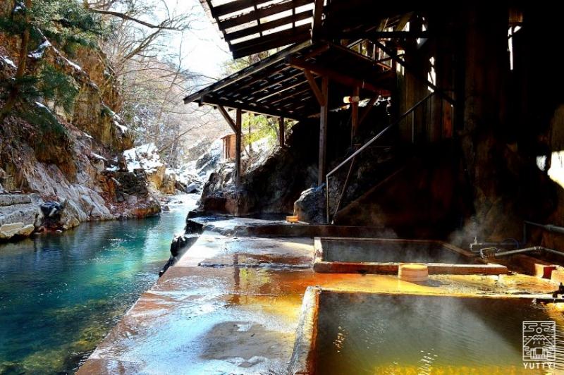 塩原温泉 明賀屋本館 川岸露天風呂の写真
