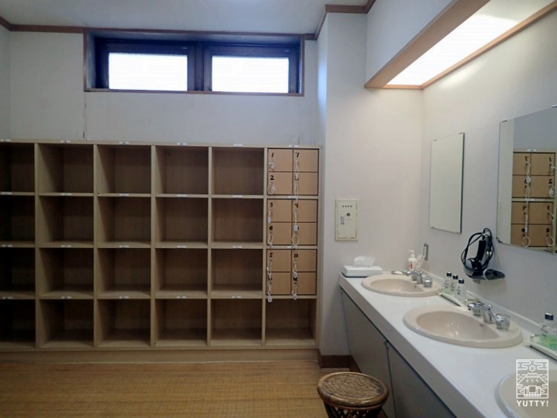 塩原温泉 明賀屋本館 内湯脱衣所の写真