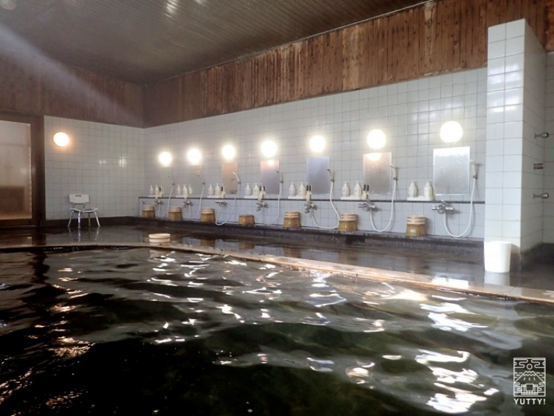 塩原温泉 明賀屋本館 内湯 黒湯の写真