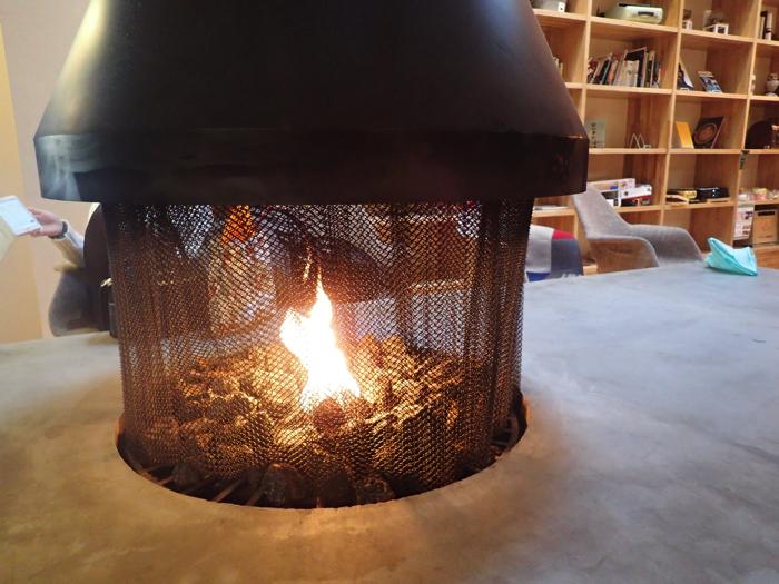 おふろcafe暖炉