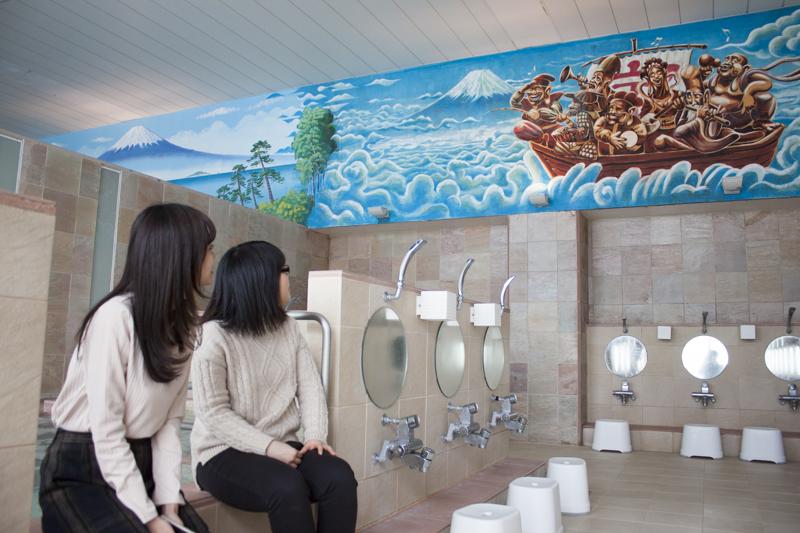 戸越銀座温泉 陽の湯 壁画