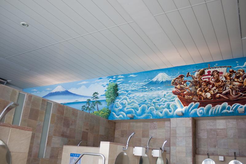 戸越銀座温泉 壁画