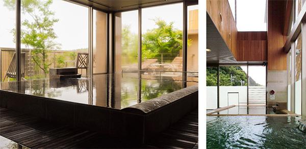 印旛沼や里山が一望できる露天風呂、大和の湯