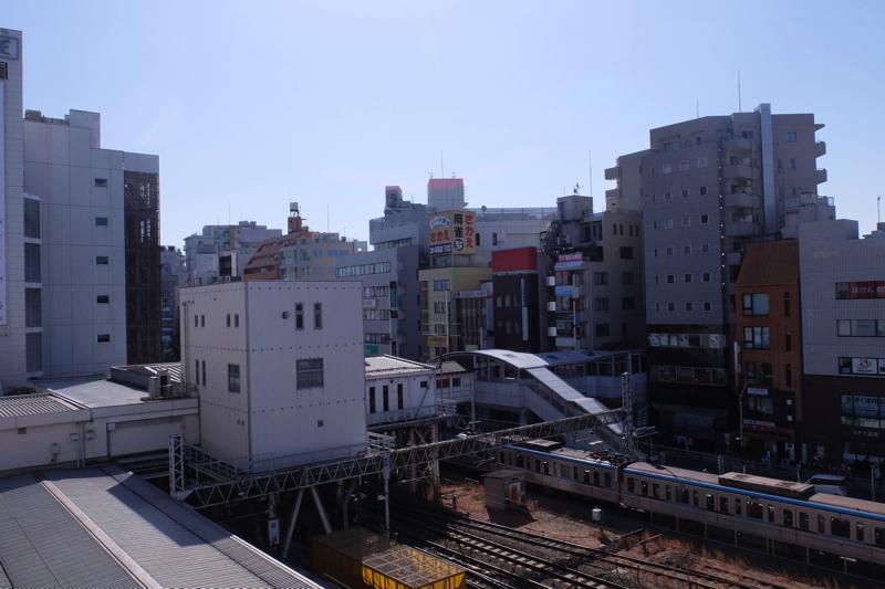 荻窪なごみの湯から見たJR荻窪駅