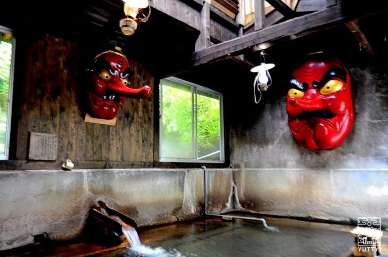 北温泉旅館 天狗に見張られながら入れる温泉の写真