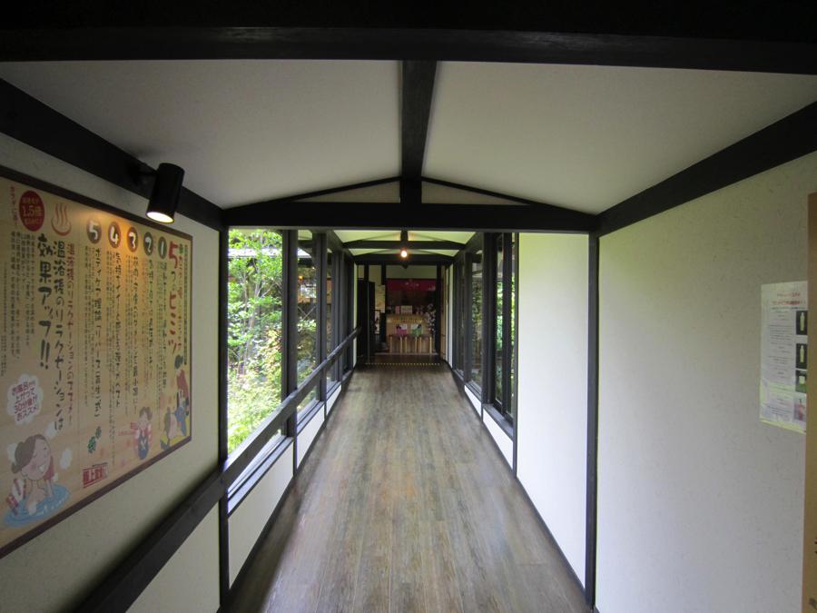 杉戸温泉「雅楽の湯」の廊下の写真