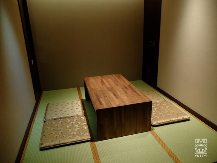 台湾北投温泉の北投天玥泉會館の畳部屋の写真
