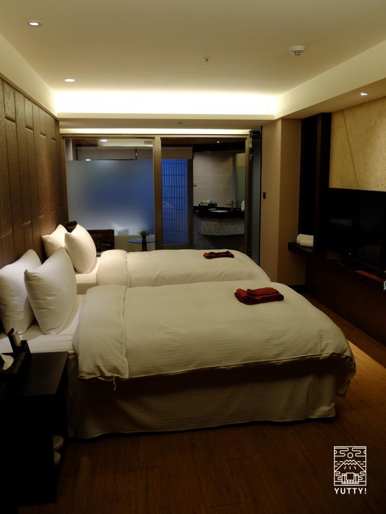 台湾北投温泉の北投天玥泉會館のベッドルームの写真