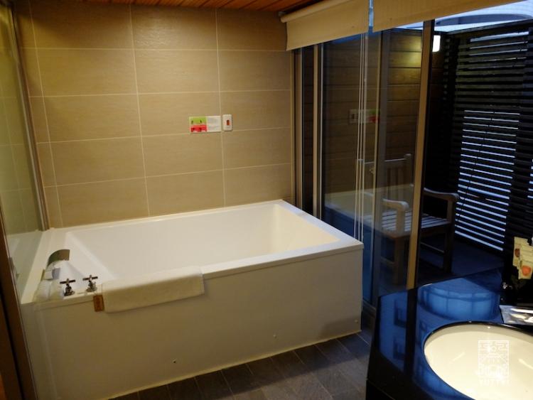 台湾北投温泉の北投天玥泉會館のお風呂の写真