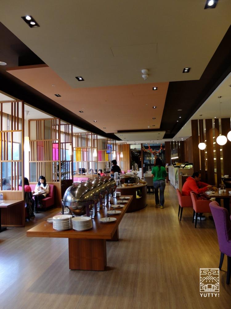 台湾北投温泉の北投天玥泉會館の朝食会場の写真