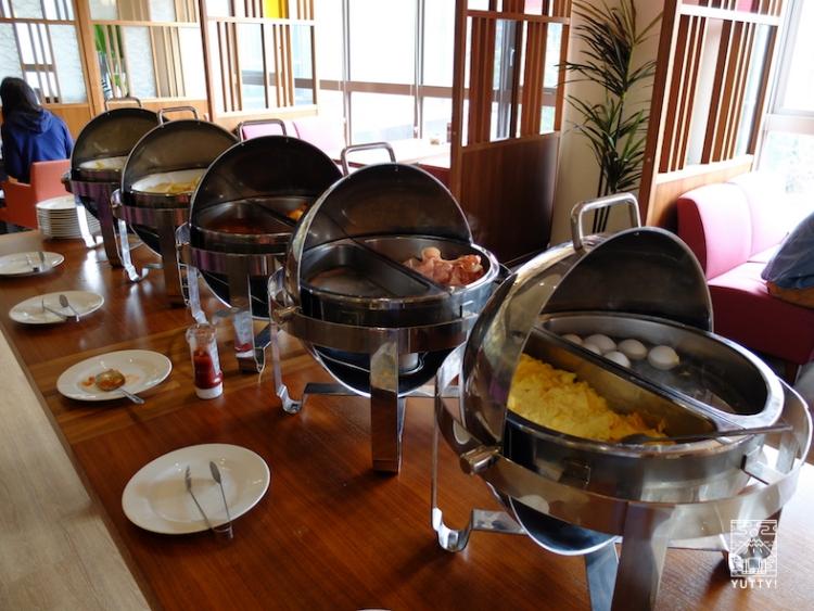 台湾北投温泉の北投天玥泉會館の朝食バイキングの写真