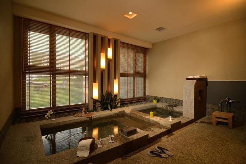 台湾北投温泉の北投天玥泉會館の貸切風呂の写真