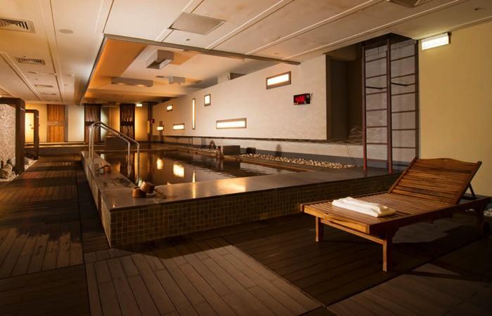 台湾北投温泉の北投天玥泉會館の大浴場の写真