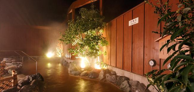 成田温泉「美湯」の露天風呂の写真