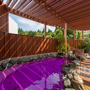 成田温泉「美湯」のラベンダーハーブ湯の写真