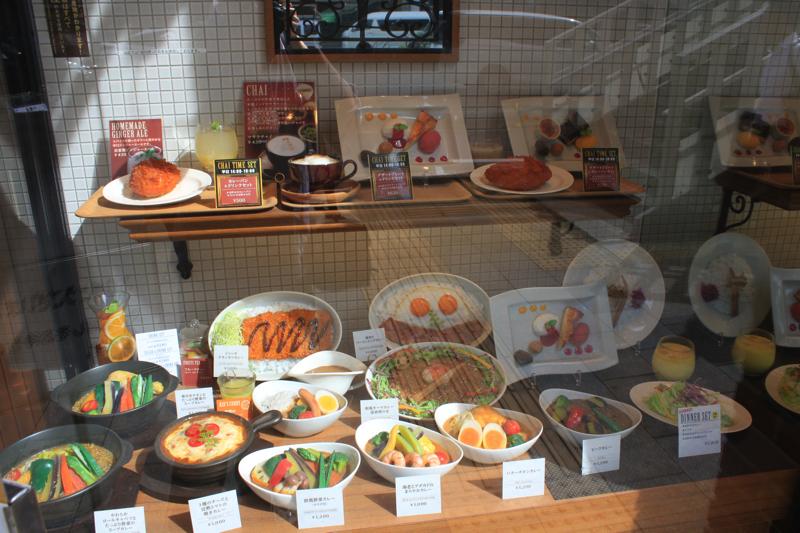 天馬 青山店の入り口にある食品サンプルの写真