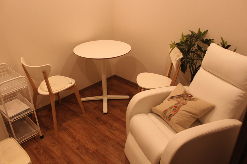 足湯カフェ「ほぐれすと」のカウンセリングルームの写真