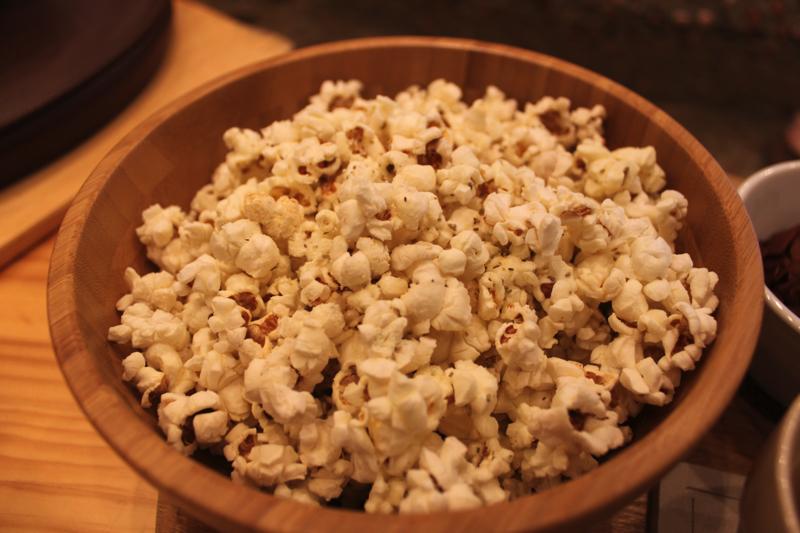 足湯カフェ「ほぐれすと」のクインポップコーン(パルメザン&ローズマリー)の写真