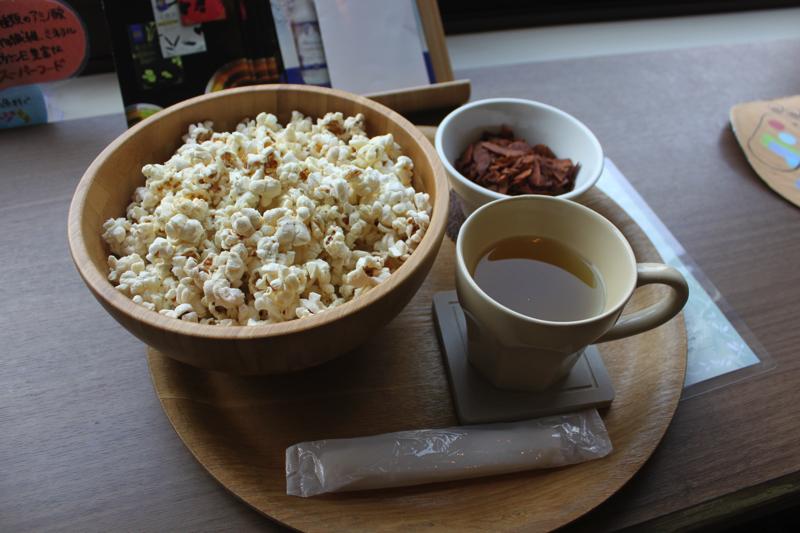 足湯カフェ「ほぐれすと」の軽食の写真