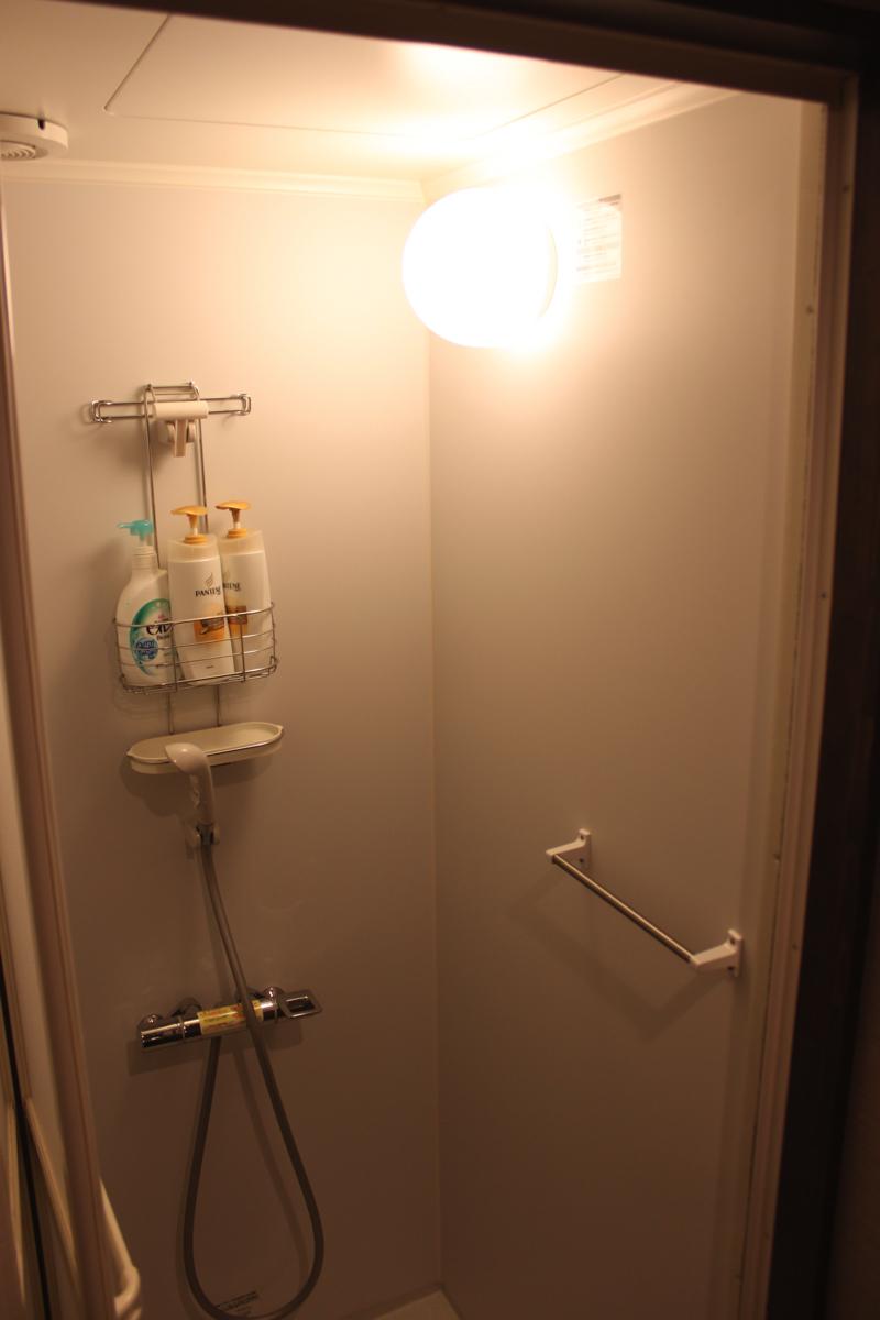 足湯カフェ「ほぐれすと」のシャワーの写真