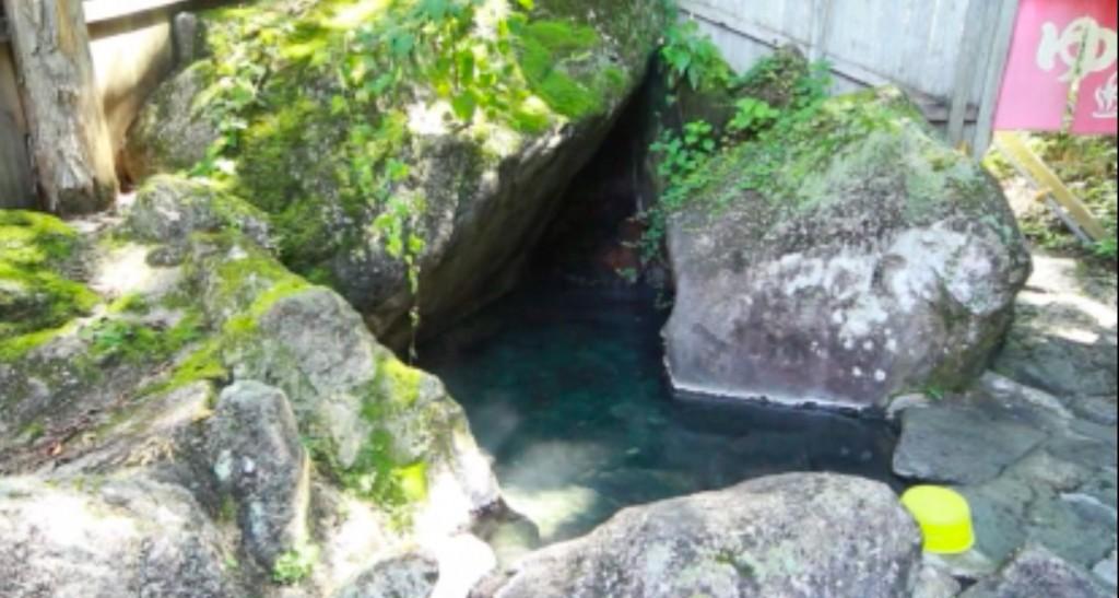 新高湯温泉の吾妻屋のたぬき風呂の写真