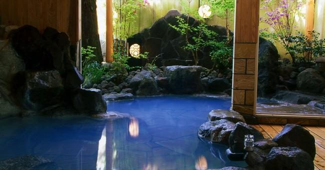 大分・由布院温泉「御宿 一禅」の温泉の写真
