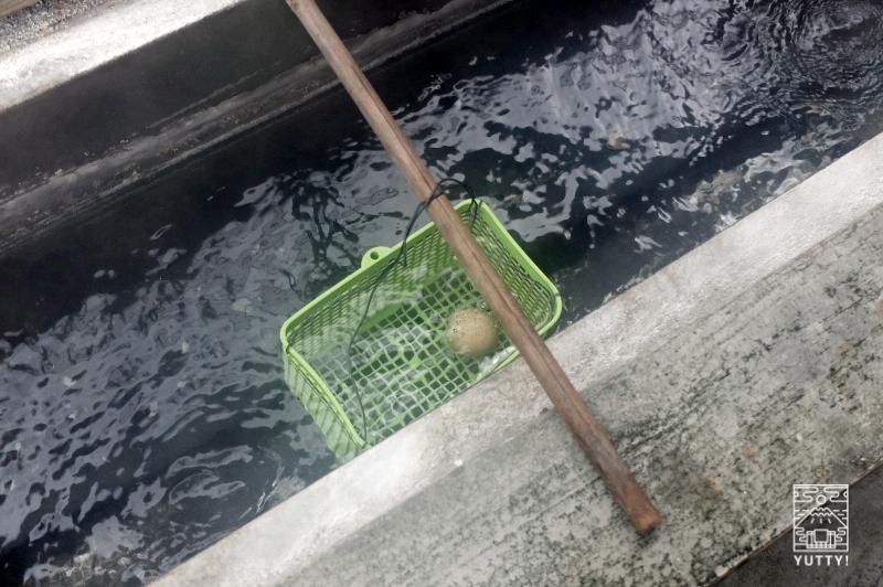 知本温泉の温泉玉子の写真