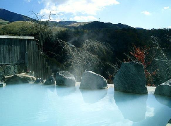 熊本・岳の湯温泉「豊礼の宿」の露天風呂の写真