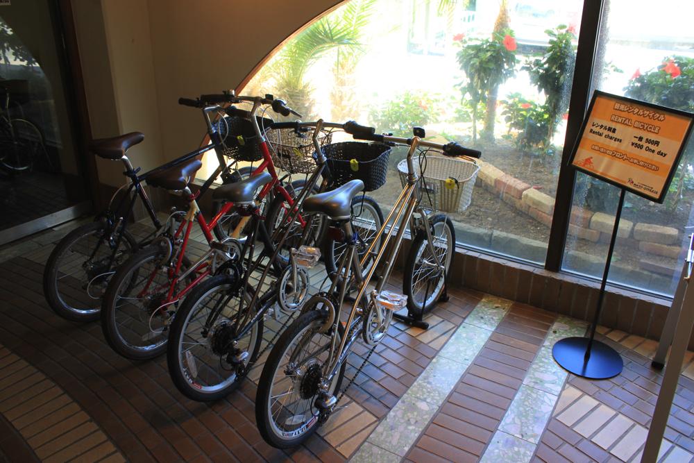 レンタサイクル用の自転車の写真
