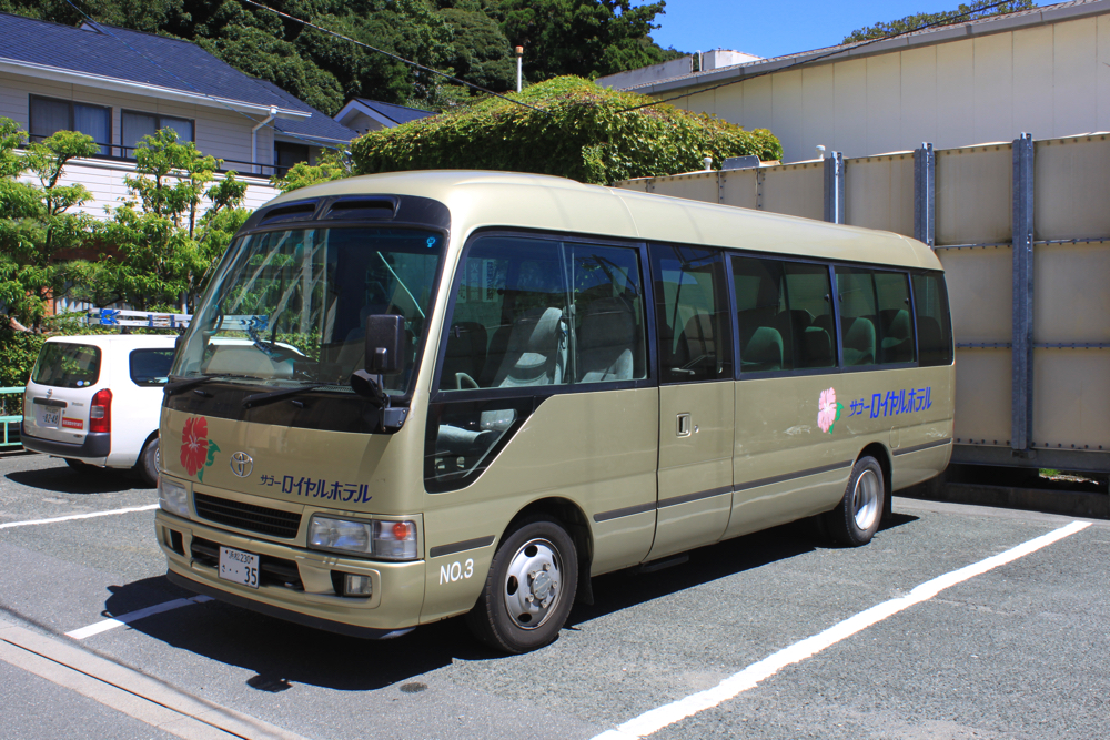 舘山寺サゴーロイヤルホテルの無料直行バスの写真