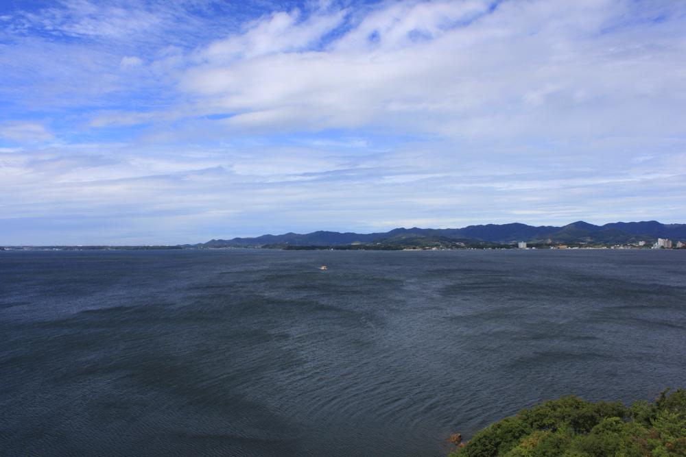 舘山寺サゴーロイヤルホテルの270°広がる最高の景色の写真