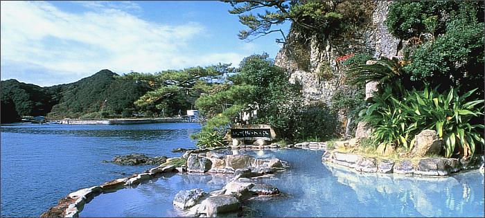 南紀勝浦温泉「ホテル中の島」の露天風呂の写真