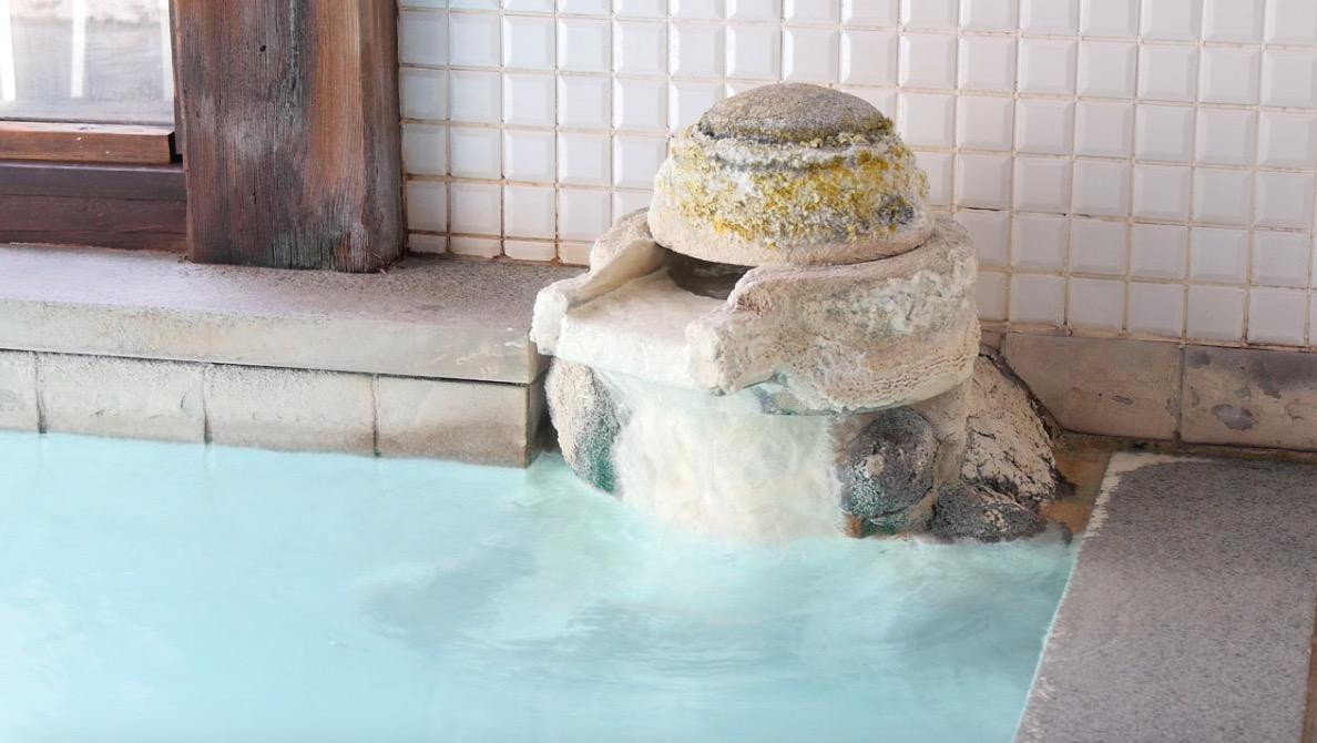 蔵王温泉の深山荘高見屋の温泉の写真