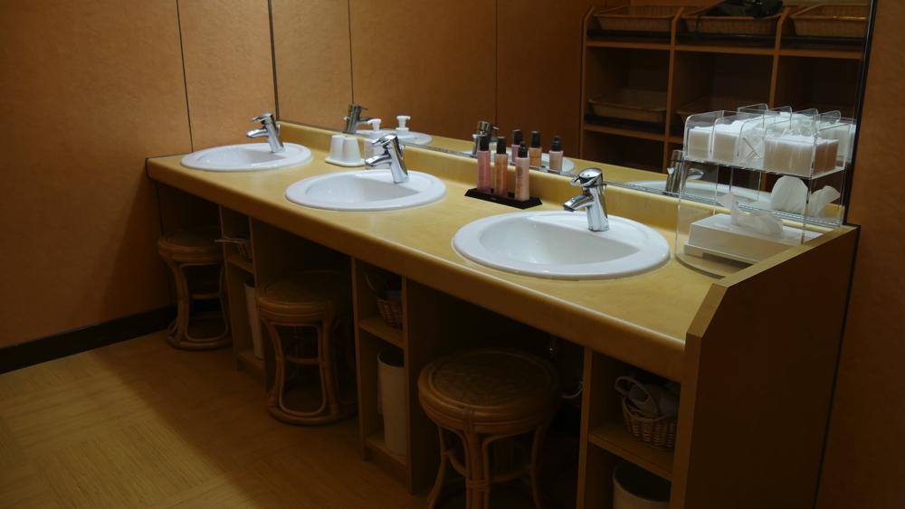 蔵王温泉の深山荘高見屋の洗面台の写真