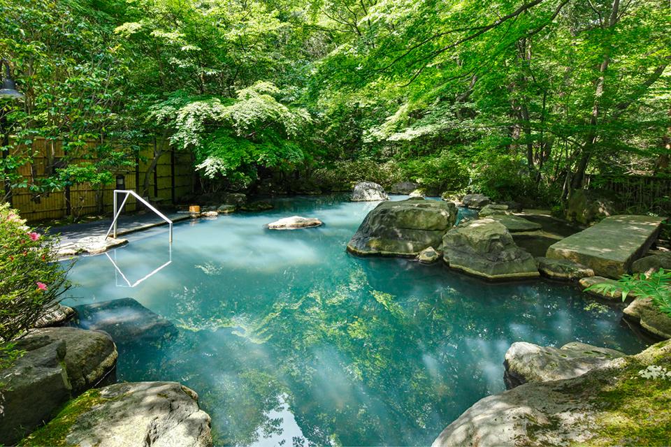 那須温泉 山楽の温泉の写真