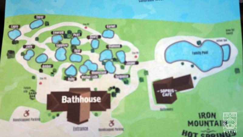 Iron Mountain Hot Springsの敷地内案内図の写真