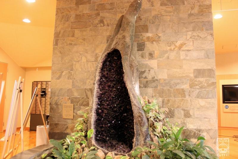 豊島園 庭の湯の「アメジスト鉱石」の写真